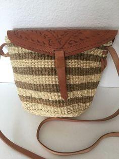 Sisal Leather Bag Crossbody Shoulder Designer Fashion Tribal Artisan Hip Boho   | eBay
