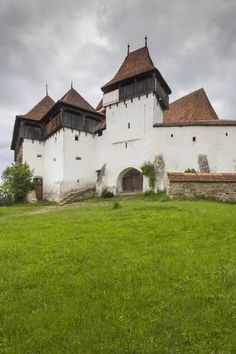Photographic Print: Romania, Transylvania, Viscri, Fortified Saxon Church by Walter Bibikow : Yosemite National Park, National Parks, Transylvania Romania, Fortification, Gothic Architecture, Beach Landscape, Old Buildings, Travel Photographer, Travel Inspiration