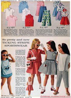 Seventies Fashion, 1950s Fashion, Kids Fashion, Vintage Fashion, Vintage Kids Clothes, Vintage Children, Vintage Clothing, Little Girl Dresses, Girls Dresses