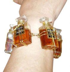 Custom Coco Chanel Perfume Bottle Bracelet Jewelry $215  (BB)#