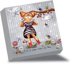 Tableau enfant original tableau chambre b b rigolo sur for Tableau pour chambre fille