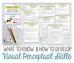 21 Visual Perceptual Skills General Ideas Visual Vision Therapy Visual Perception