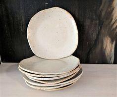 Handmade Plate Matte off White Salad Plate Ceramic Plate