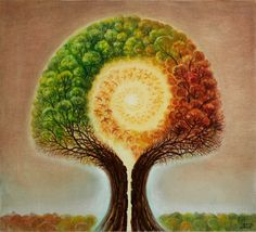i like how it shows a change in seasons and that the heart of the tree comes from within the tree and leads to the roots. NELLY TSENOVA