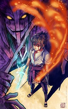 Sasuke with Susanoo by ComplexWish.deviantart.com on @DeviantArt