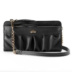 Juicy Couture Zip Convertible Wristlet Wallet - Black (or this wallet to go with the backpack)