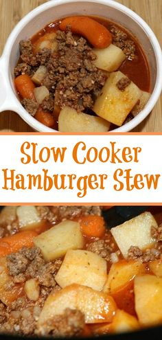This easy frugal Crock Pot Hamburger Stew Recipe is perfect to make for busy weeknights! Plus its the perfect frugal meal to make with vegetables as well! # Food and Drink meals Easy Crock Pot Hamburger Stew Recipe Crockpot Dishes, Crock Pot Soup, Crock Pot Cooking, Crock Pit Meals, Vegetable Stew Crockpot, Crock Pot Gumbo, Crock Pot Dinners, Slow Cooker Meals, Crock Pot Chili