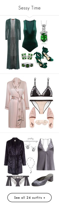 """Sessy Time"" by delana-katrice-jarrett ❤ liked on Polyvore featuring Missoni, Jewelonfire, Fleur du Mal, LoveStories, Agent Provocateur, Brother Vellies, BCBGeneration, Branché, Diane Kordas and Fleur of England"