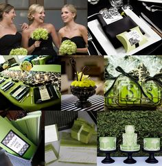 black and green wedding