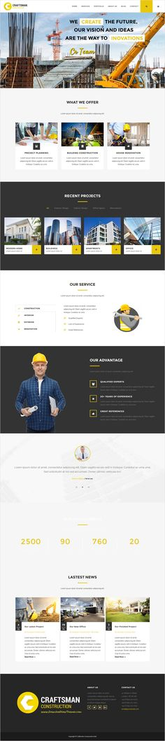 Craftsman Construction is wonderful responsive 2 in 1 #WordPress #Theme for #construction, #handyman, plumber or electrician , carpenter, craftsman workshop, painter or repair business website download now➩ https://themeforest.net/item/craftsman-construction/16321731?ref=Datasata