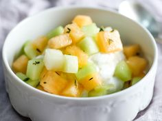 It's a simple way to use melon that's less a recipe than an idea, easily adapted to whatever purpose you like.