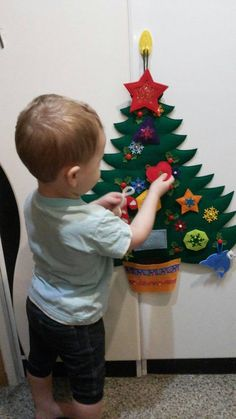 Christmas Gifts For Kids, Felt Christmas, Christmas 2019, Toys For Boys, Kids Toys, Toddler Toys, Baby Quiet Book, Quiet Books, Felt Tree