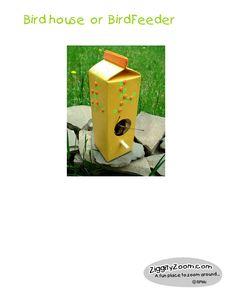 BirdFeeder from Milk Carton
