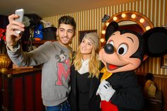 Perrie Edwards, Zayn Malik and Mickey Mouse
