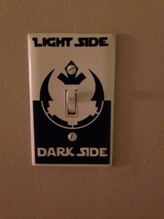 Star Wars Light Switch Decal freaturing Rebel Alliance and Empire symbols - 25+ Star Wars Day - http://NoBiggie.net