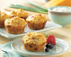 Cottage Cheese, Egg, and Ham Muffins ||  all purpose flour 3/4 cup whole wheat flour 3 teaspoons baking powder 1/4 teaspoon salt 3/4 cup Cottage Cheese 2 eggs, lightly beaten 1/3 cup vegetable oil 1/4 cup milk 1/2 cup ham, finely chopped 1/2 cup Cheddar cheese, shredded 1/4 cup green onions