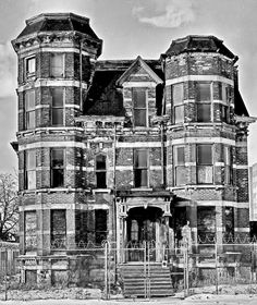 One of the grand old mansions in Detroit, MI