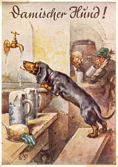 Metal Magnet 1935 Advertisement Dachshund Beer German Alcohol Dog Magnet X Dachshund Vintage, Dachshund Funny, Dachshund Art, Long Haired Dachshund, Vintage Dog, Funny Dogs, Cute Dogs, Daschund, Vintage Gifts