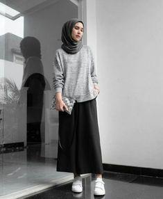 Fashion Hijab Casual Outfit 61 Ideas For 2019 Hijab Casual, Hijab Chic, Ootd Hijab, Casual Chic, Hijab Wear, Street Hijab Fashion, Muslim Fashion, Modest Fashion, Fashion Outfits