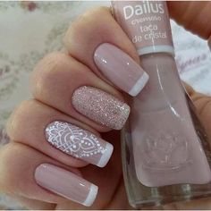 27 best ideas for nails art french manicure ongles Diy Nails, Cute Nails, Pretty Nails, French Nail Designs, Nail Art Designs, Ongles Beiges, Nail Deco, Wedding Nails Design, Perfect Nails