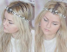 simple rustic bridal headpiece