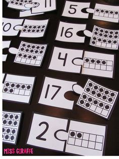 Ten Frame Puzzles make a great math station activity - Building Number Sense in…