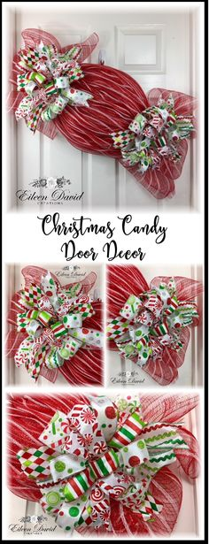 Christmas Candy wall decor, Christmas D ecorations, red decor, Christmas wreaths, Christmas Mesh Wreaths, Christmas Door, Outdoor Christmas, Christmas Candy, Winter Christmas, Christmas Holidays, Christmas Ornaments, Winter Wreaths, Spring Wreaths