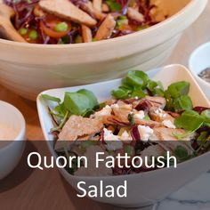 Hungry Healthy Happy - Fattoush Salad - I have another delicious meat free recipe for you all. World Meat Free Day is coming up on June 15th and I encourage you all to take part, make a delicious Salad Fattoush Salad, quorn, vegetarian