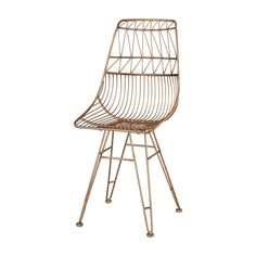 Sterling Home Jette Chair In Rose Gold (Rose Gold), Brown