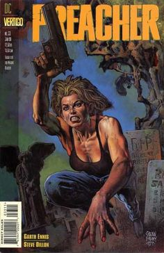 Snakes In The Grass ,script by Garth Ennis, art by Steve Dillon , Painted cover by Glenn Fabry -Cassidy confronts Les Enfants du Sang, Jesse learns the secret o Book Cover Art, Comic Book Covers, Comic Books Art, Book Art, Steve Dillon, Snake In The Grass, Vertigo Comics, Comic Reviews, Horror Comics