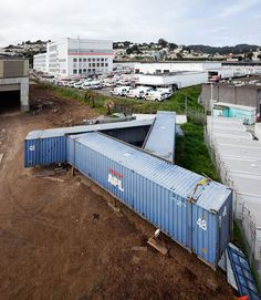 Shipping Container Pavillion Springs up in San Francisco Presidio Shipping Container Home Designs, Container House Design, Tiny House Design, Shipping Containers, Plan For Life, Building A Container Home, Container Architecture, Prefabricated Houses, Home Projects