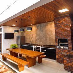 120 unordinary kitchen colors design ideas that looks cool 12 Home Design Decor, Interior Design Living Room, Diy Home Decor, Interior Decorating, Design Ideas, Design Inspiration, Outdoor Kitchen Design, Patio Design, Kitchen Decor