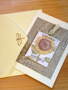 Thank you card including sunflower seeds