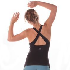 b6f284738485c £35 ECLIPSE Organic Cotton Vest Black is for everybody. An extra  back-flattering