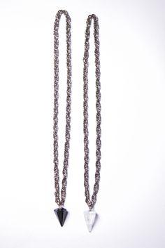Collar Mercurio con Cuarzo transparente/ Onix