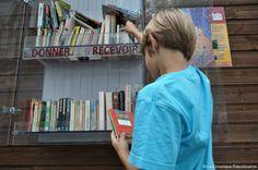 Un concept assez simple: déposer un livre dans une boîte pour en mettre un autre. Une belle manière de renouveler sa bibliothèque.