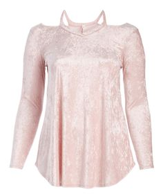 e3d96c54188 Take a look at this Celeste Pink Velvet Long-Sleeve Tunic - Plus today!