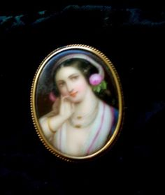 """""""Found this in a thrift store.  Appraised a few years ago for $350.  Painted on ivory. Love it!!"""""""