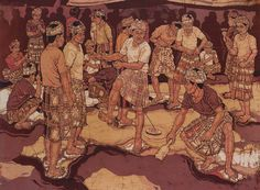 Batik Ismail Mat Hussin Playing Gasing Southeast Asian Arts, Reyes, Painting, Image Search, Colombia, Historia, Painting Art, Paintings, Painted Canvas