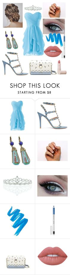 """""""Sweet 16"""" by kellimagine ❤ liked on Polyvore featuring Valentino, Sweet Romance, SoGloss, Kate Marie, L.A. Girl, Marc Jacobs, Lime Crime and Lipstick Queen"""