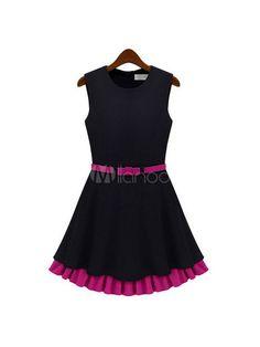 #Milanoo.com Ltd          #Skater Dresses           #Black #Jewel #Neck #Sleeveless #Ruffles #Cotton #Blend #Bodycon #Dress #Women                          Black Jewel Neck Sleeveless Ruffles Cotton Blend Bodycon Dress for Women                                http://www.snaproduct.com/product.aspx?PID=5705626