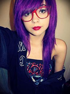 New trend: purple hairs