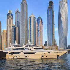The latest addition to our fleet of tri-decks, the Majesty 110, during Dubai International Boat Show.