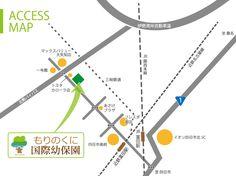 もりのくに国際幼保園へのアクセス地図