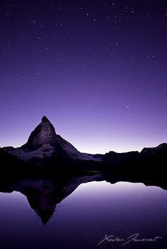 ~~Under the stars ~ Mount Matterhorn, Valais, Switzerland by *XavierJamonet~~