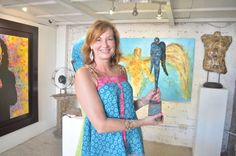 This lucky lady brought home her own limited edition timeless protection sculpture.  We love it in blue but our other angels in the series are stunning as well! CLIENTS GALLERY  Visit our page at http://www.ivanguaderrama.com/  Buy Angel  Art Prints   http://fineartamerica.com/profiles/ivan-guaderrama-art-gallery.html