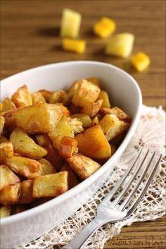 Baked potatoes crispy and soft inside - Patate al forno croccanti e morbide dentro #patate #forno #croccanti