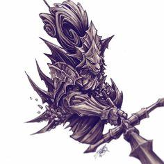 Inktober Day 27. Dragon Slayer Ornstein #inktober2016 #inktober #darksouls #darksouls3 #ink #markers #dragon #slayer #ornstein #bloodborne #tattoos #tattoo