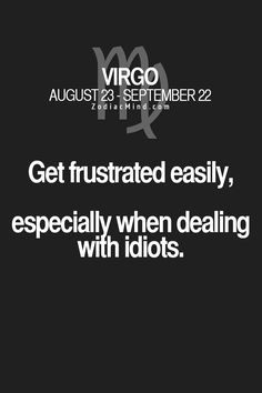 Virgo that's me !