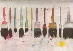 Jim Dine   Paintbrushes   1972